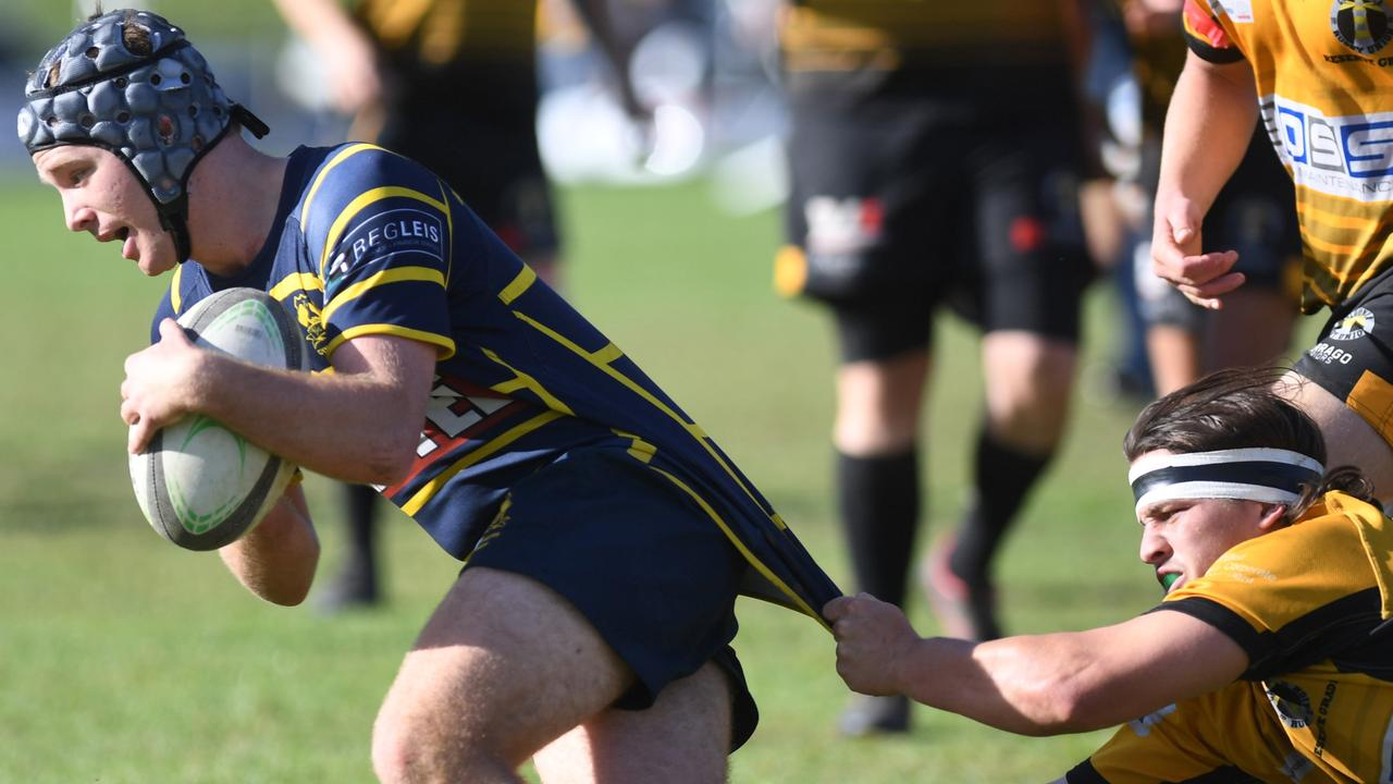 Gympie Hammers player Owen Dugdale in action.