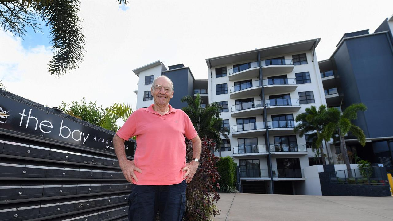 Bay Apartments has seen its occupancy rate diminish, with a significant loss to the business and apartment owners – Managing Director Mark Dindas outside The Bay Apartments. Photo: Cody Fox
