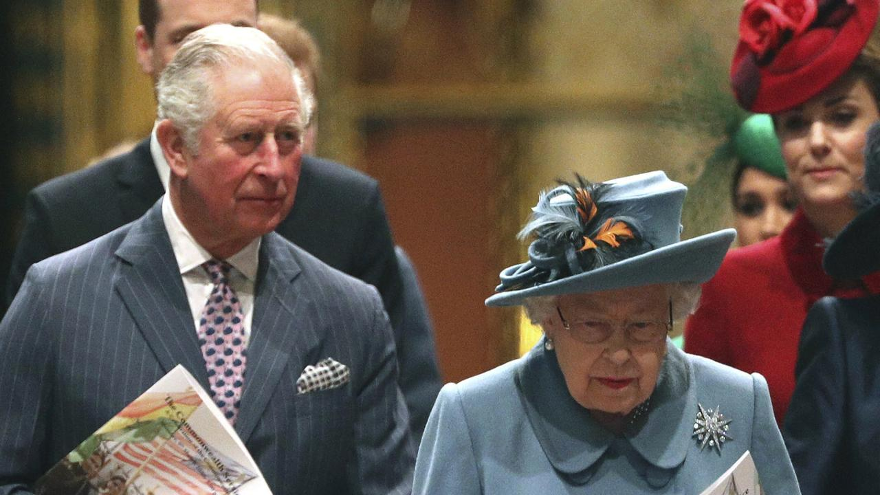 Prince Charles and the Queen on March 9. Picture: Yui Mok/PA via AP