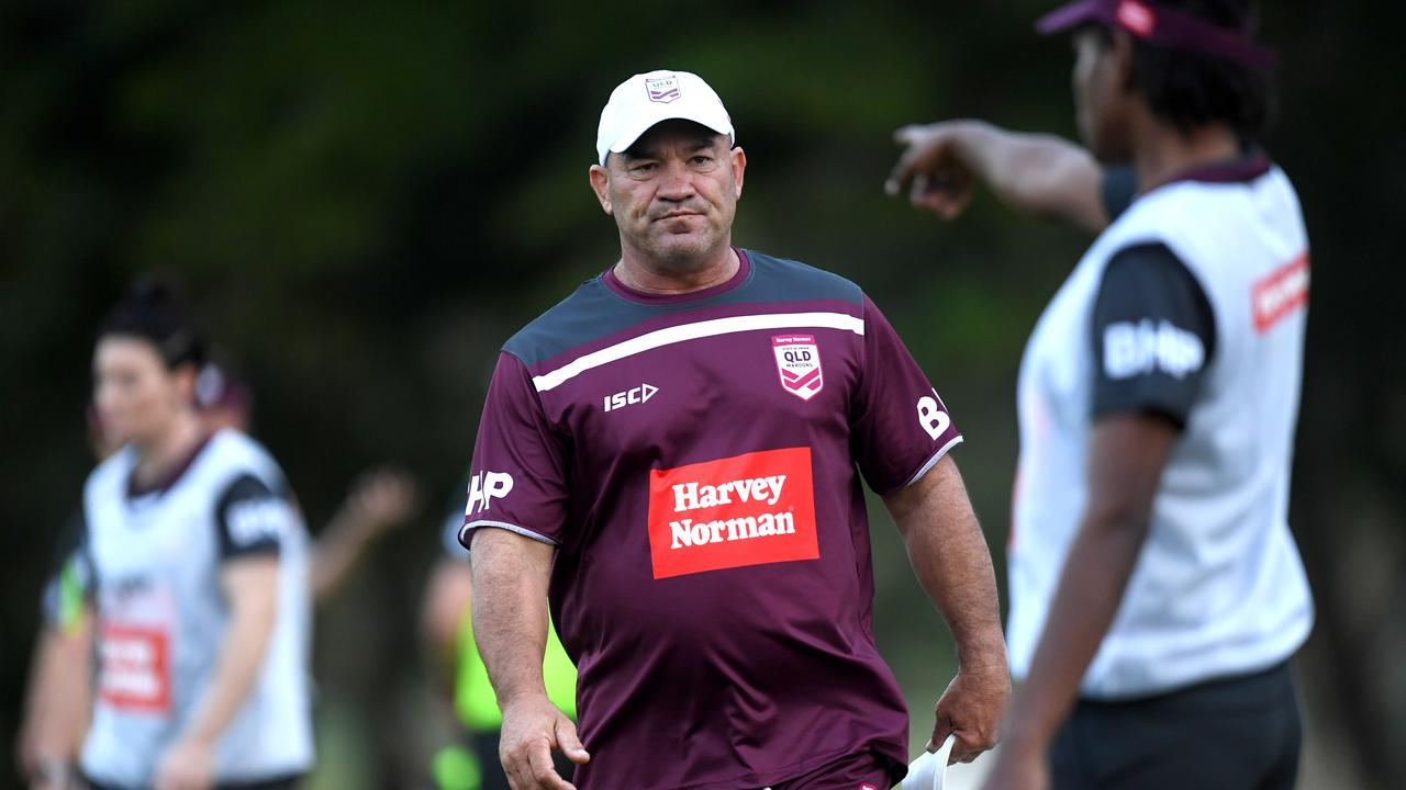 "ON HOLD: Queensland women's coach Jason Hetherington is urging players to ""stay positive and stay fit"" after the suspension of the BHP Premiership with the State of Origin still set down for June 19. Picture: NRL Photos"