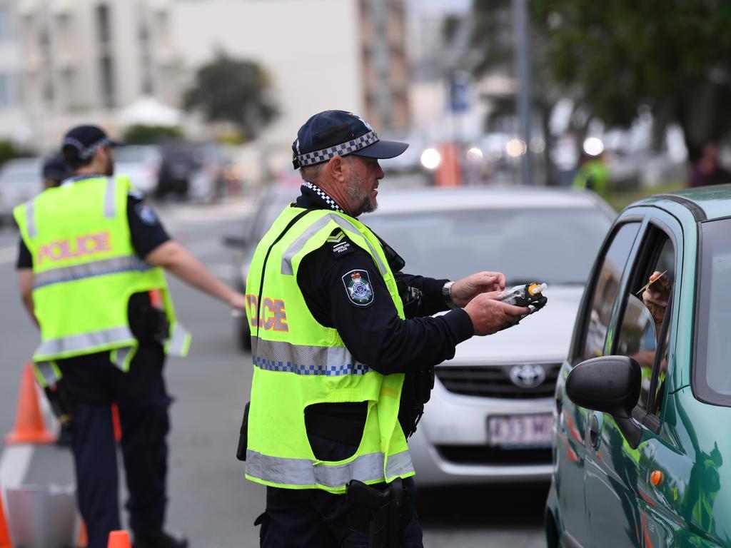 Police conduct a Random Breath Test operation at Alexandra Headland. Photo: Warren Lynam