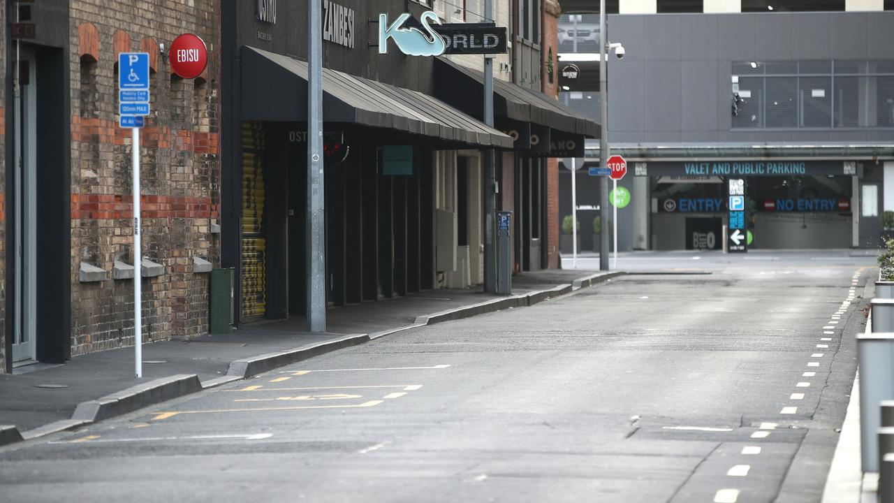 The city's usually bustling Britomart. Picture: Phil Walter/Getty Images