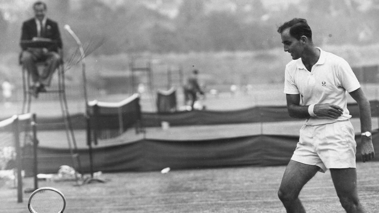 Bob Hewitt, pictured at Kooyong, is a convicted child rapist.
