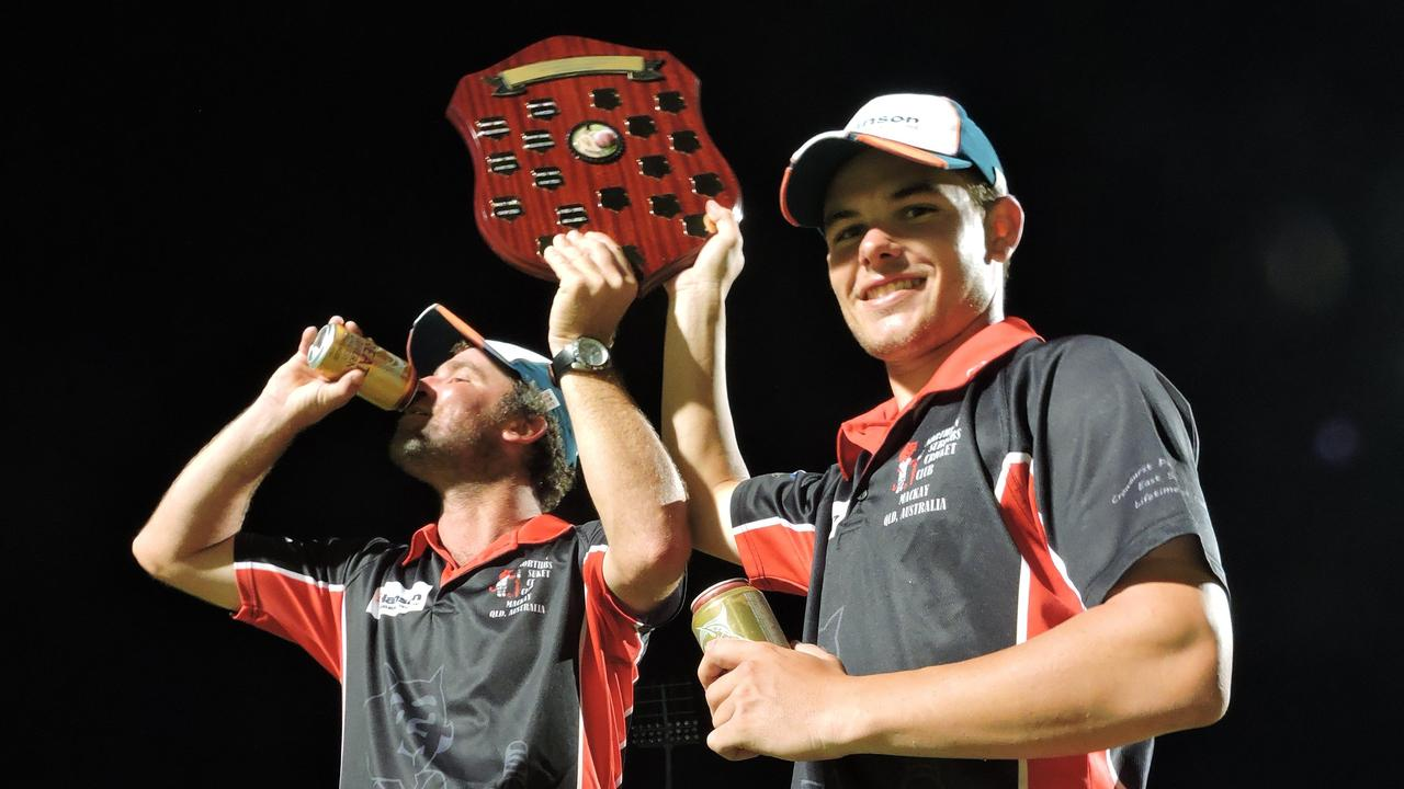 Brant Attard captained a younger Mitch English (right) at Norths before moving to Magpies.