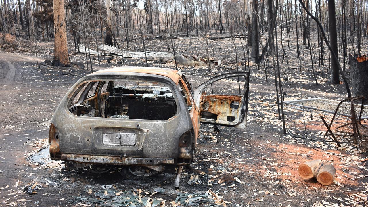 Destrucion of property in the Tabulam fire. PIC: SUSANNA FREYMARK