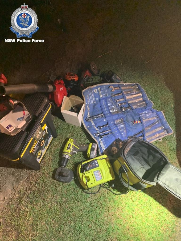 A man will face court today after stolen property and drugs were located during a search warrant at a Ballina home yesterday.