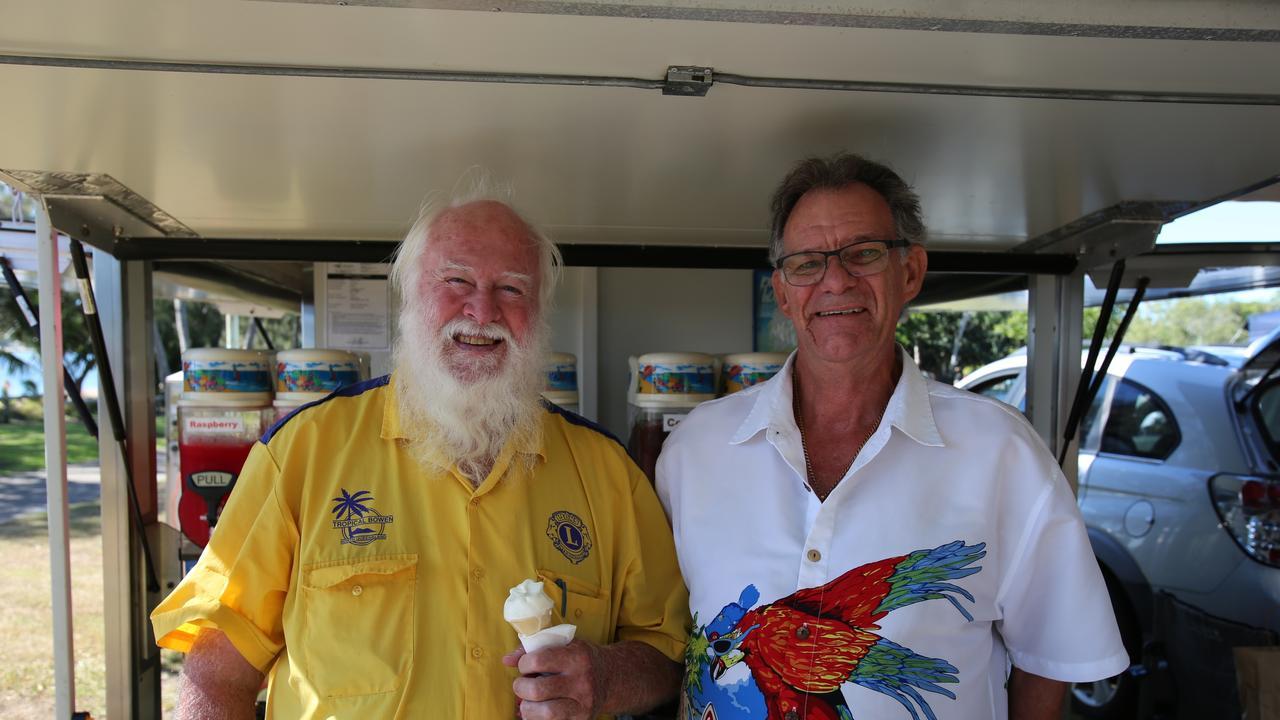 Bowen Markets manager Mark Carty and Whitsunday Slushy's and Ice Cream George Wade