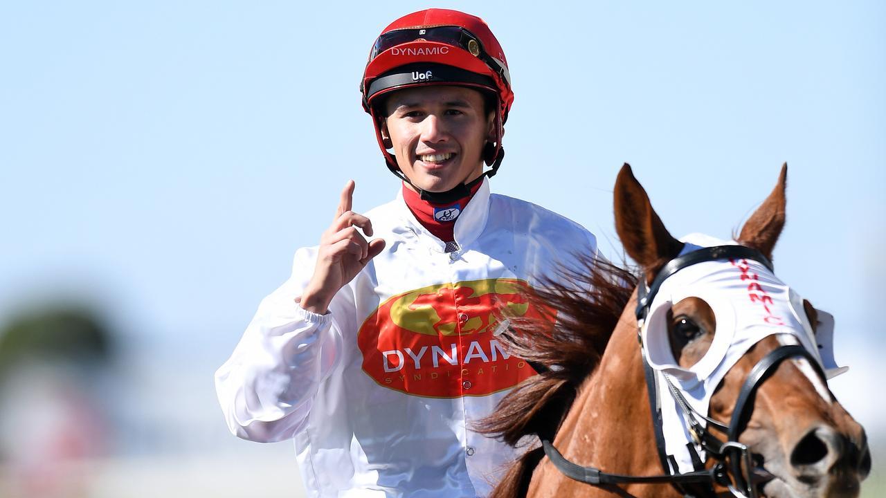 WINNER: Jockey Matthew McGillivray.