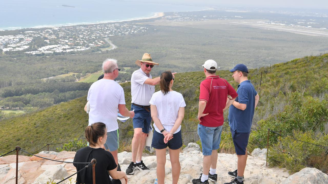 Judge Nicole Kefford conducts a site inspection of Mount Coolum on day two of a Planning and Environment Court hearing into the Sekisui House development. She is joined by the legal teams for the appellants Development Watch and the Sunshine Coast Environment Council, and respondents Sunshine Coast Council and Sekisui. Photo: John McCutcheon