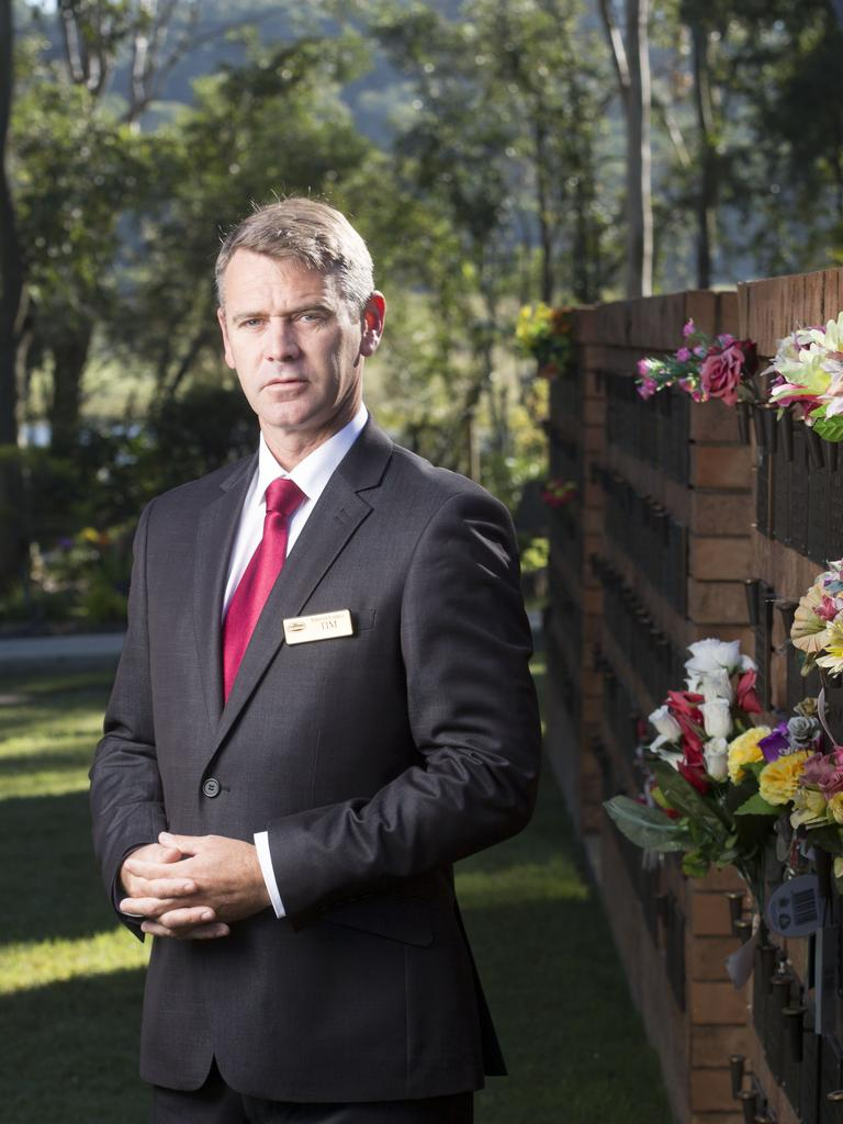 In unprecedented times, funeral home are thinking ahead to give families another option. Funeral Director Tim Connolly. Photograph by Russell Shakespeare.