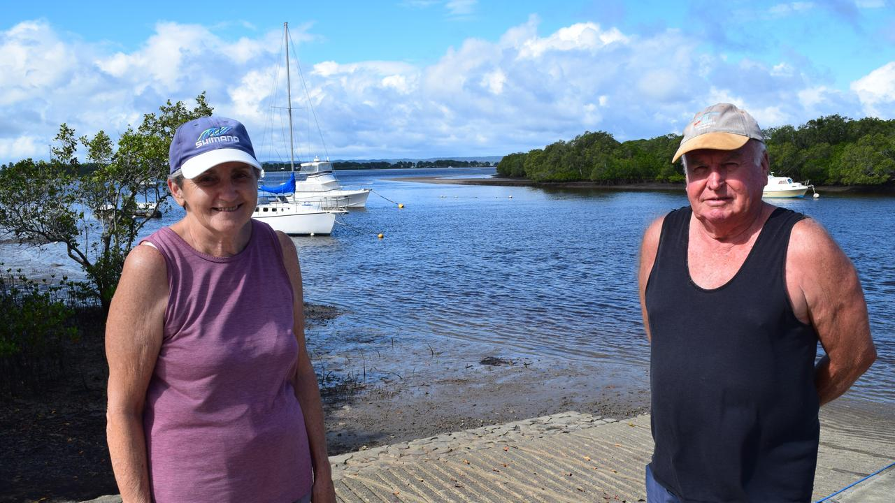 COMMUNITIES COME TOGETHER: Tuan residents (L) Paula Hargrave and Jim Pratt at the Tuan boat ramp. Photo: Stuart Fast