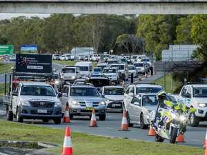 Trucks waved through at Queensland border backlog