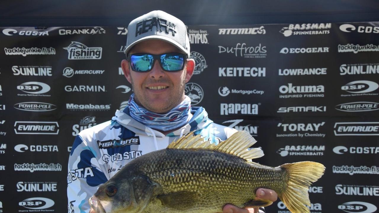 Matthew Langford with a juicy bass at the Australian Bass Series last weekend.