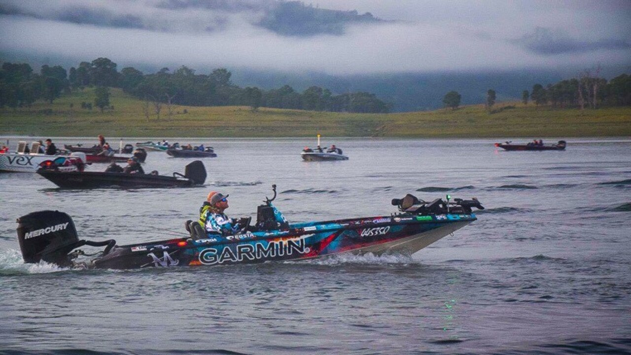 ON THE WATER: Matthew Langford on lake St Clair for round one of the Australia Bass Series in NSW. Picture: Contributed