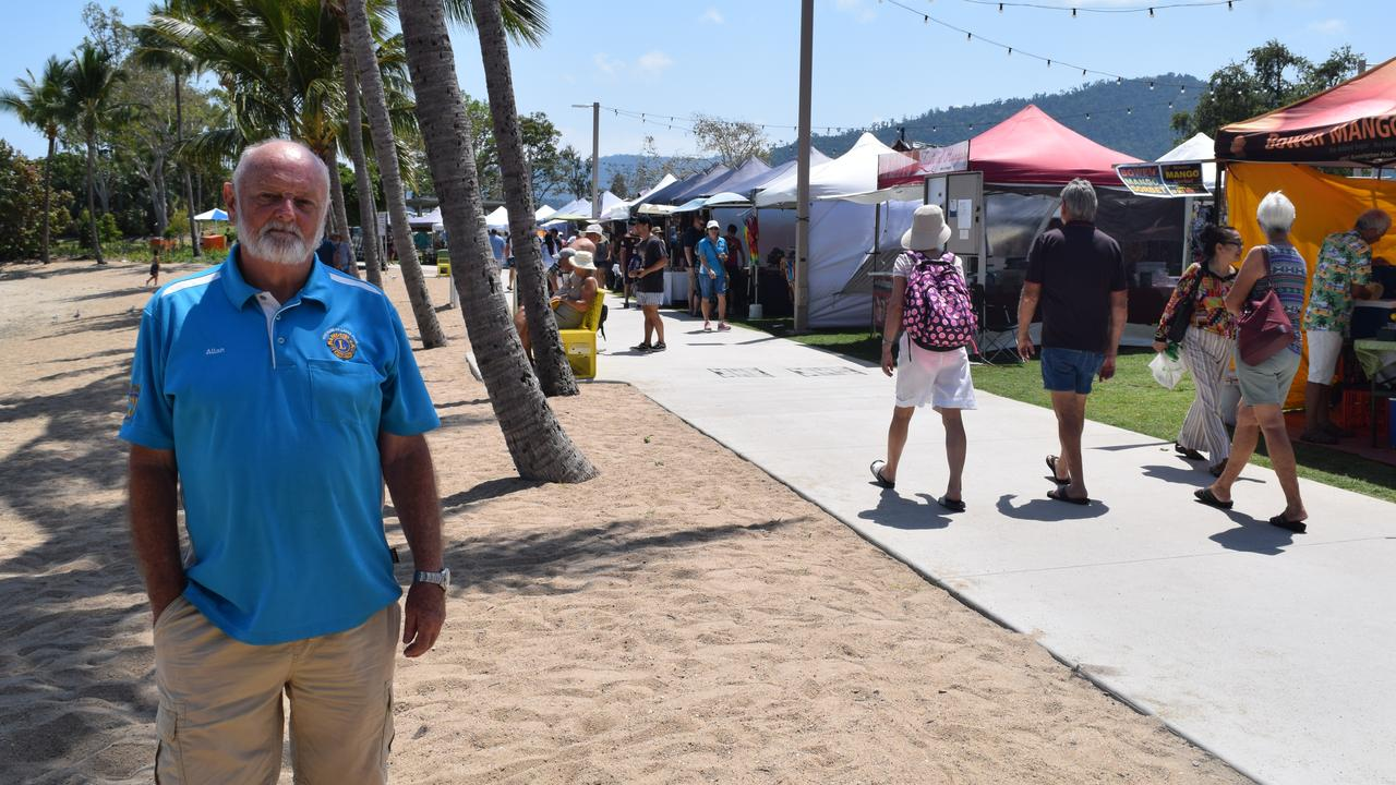 """Lions Airlie Beach Community Markets market manager Allan Gravelle said the decision to cancel the Whitsunday Markets was """"tough""""."""