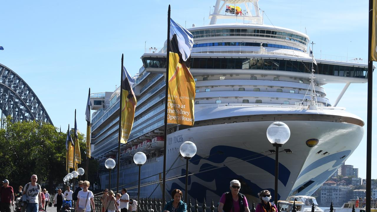 A third passenger from the Ruby Princess cruise ship has died from coronavirus. Picture: Dean Lewins/AAP Image