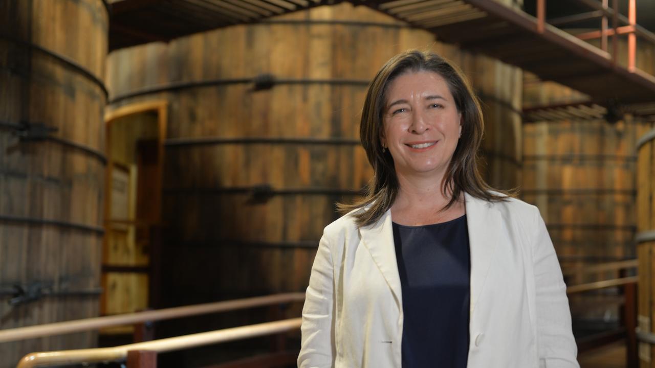 Queensland Senator Susan McDonald visits the Bundaberg Rum Distillery.