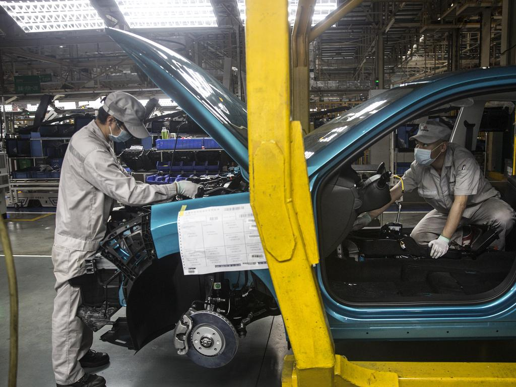 Car factories and auto parts are being manufactured again. Picture: Getty Images