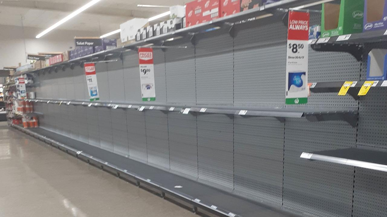 Woolworths will employ 20,000 people nationwide in response to the COVID-19 pandemic. Panic buying has emptied shelves in stores around Australia.