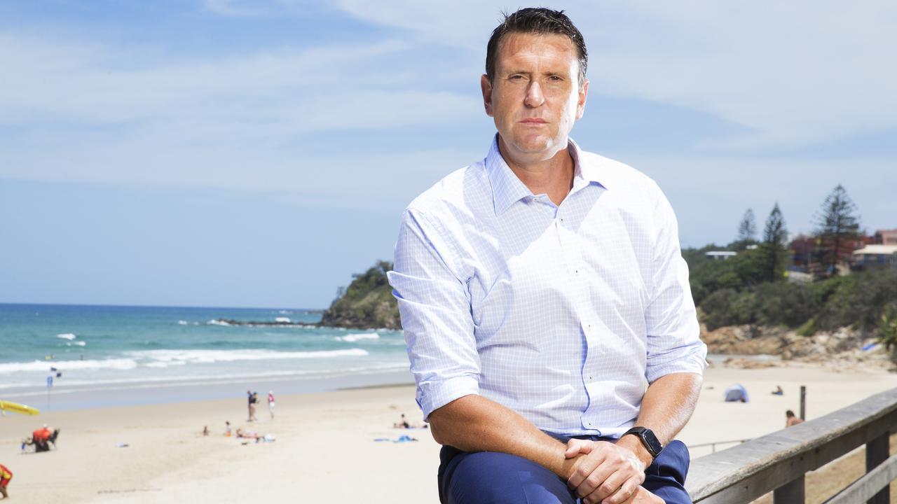 Liberal MP for Ninderry Dan Purdie at Coolum Beach. Photo: Lachie Millard