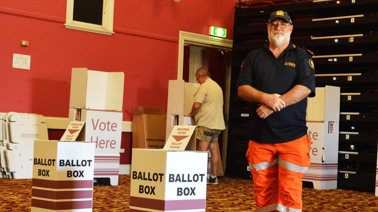 THIS IS HAPPENING: Warwick SES controller John Newley will be one of many SES volunteers guarding elections today to enforce social distancing regulations.