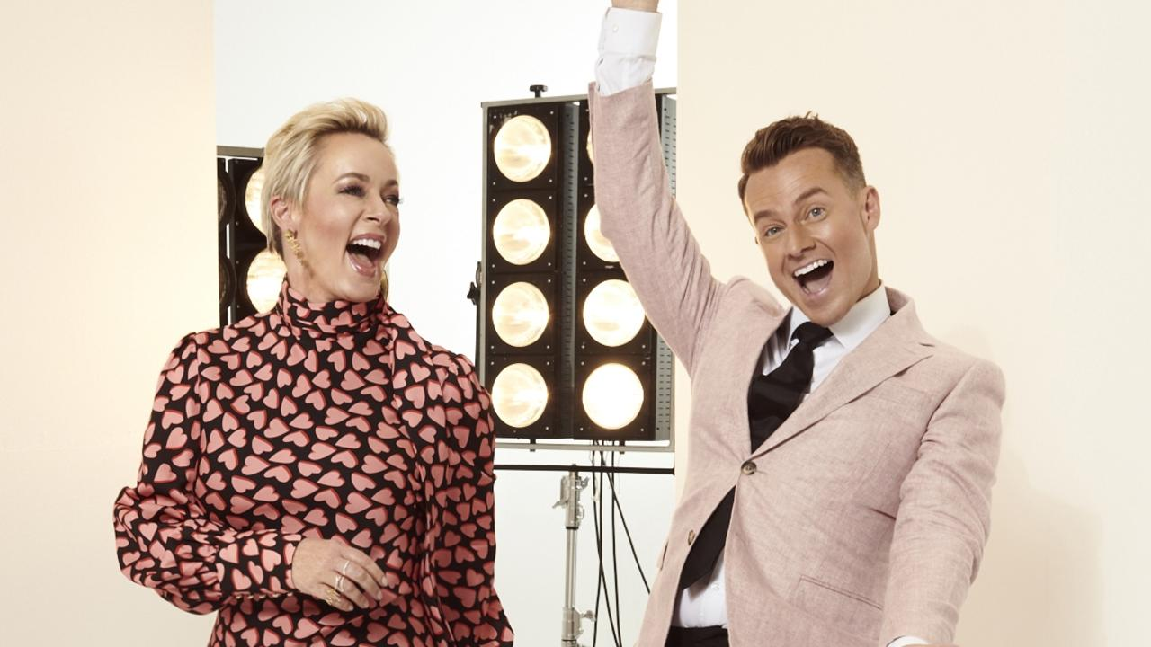 Amanda Keller and Grant Denyer host Dancing With The Stars. Picture: Channel 10.