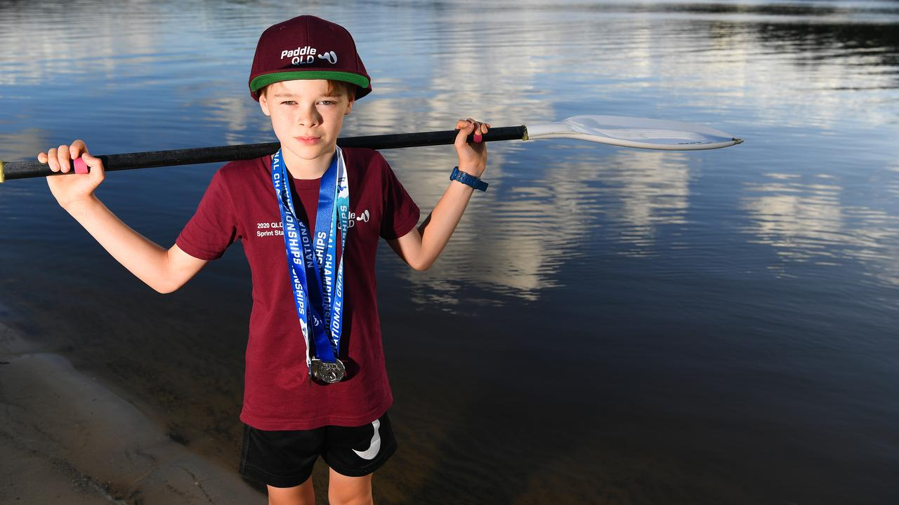 SPORT: Xavien Maclean, 10, competed in the Australia Canoe Sprint Championships in Sydney and came home with a handful of medals. Picture: Warren Lynam