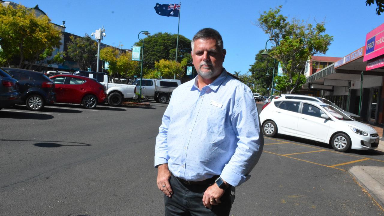 Bundaberg Chamber of Commerce president Tim Sayre, in Bourbong St.
