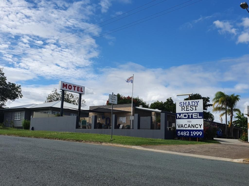 The Shady Rest Motel in Gympie where a witness said he saw a party during the COVID-19 Stage 2 lockdowns.