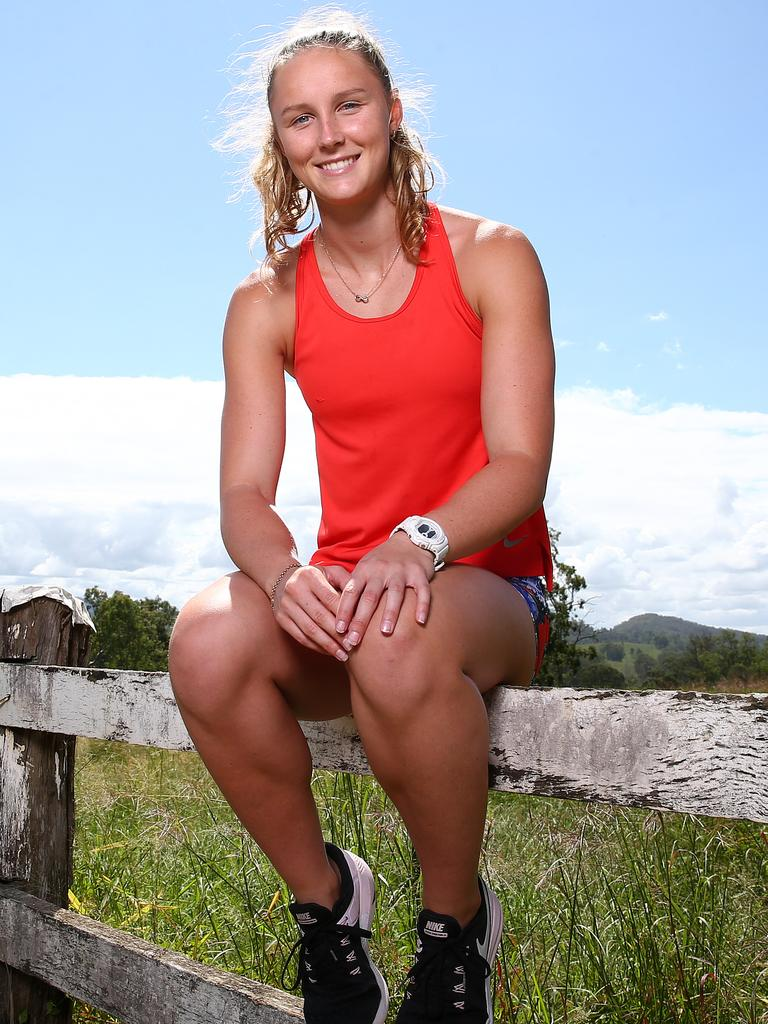 Riley Day, at home in Beaudesert, has had to put her Olympic dream on hold. Picture: Adam Head