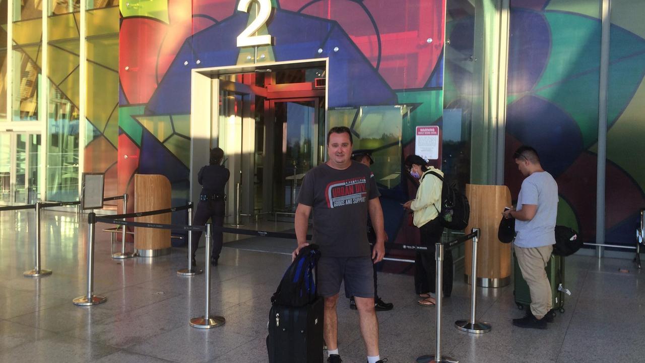 The Gatton Star's David Greer at Ceba International Airport on his way back to Australia during the coronavirus pandemic. PHOTO: Contributed