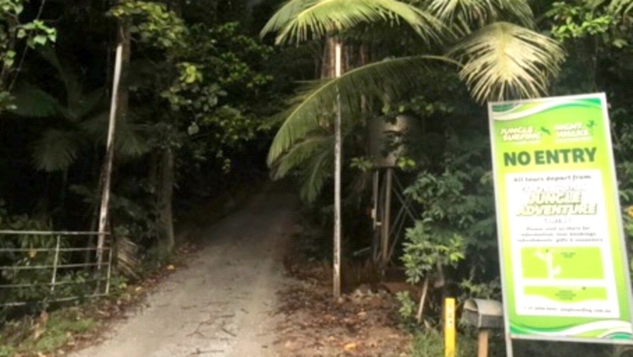 The entrance to Jungle Surfing a day after the death of man in October.
