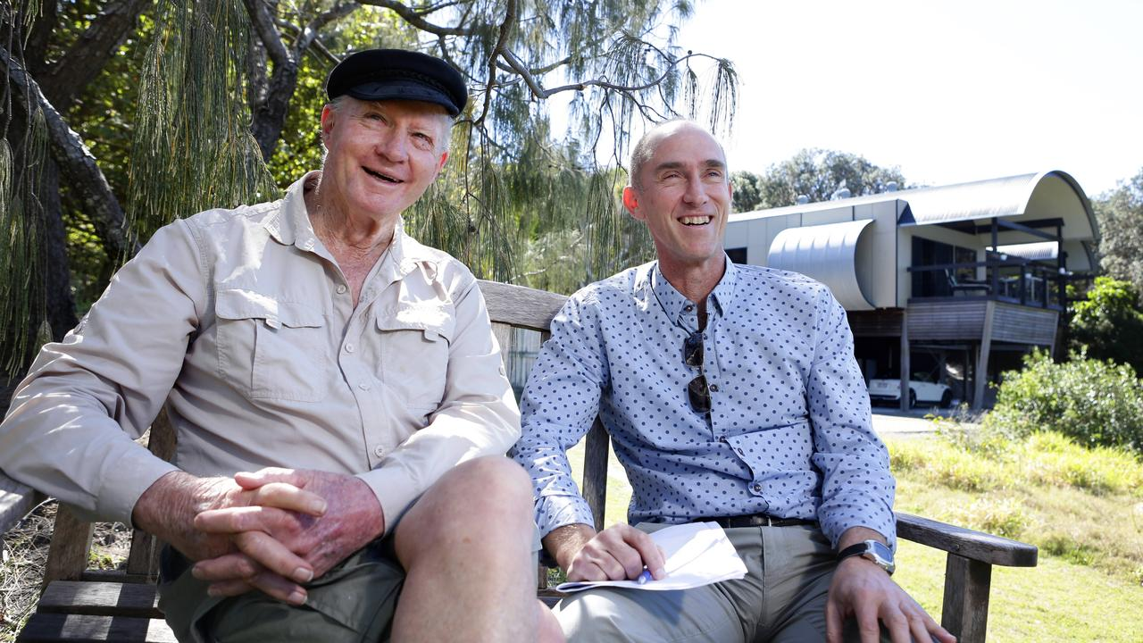 Architect Gabriel Poole and his long-term engineer Rod Bligh at Castaways house belonging to artist Tracy Moffat which they worked on together.