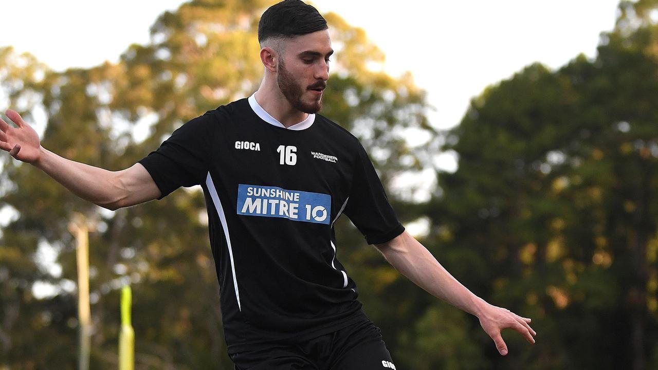 Sunshine Coast Wanderers player Nikolas Taylor. Photo: Warren Lynam
