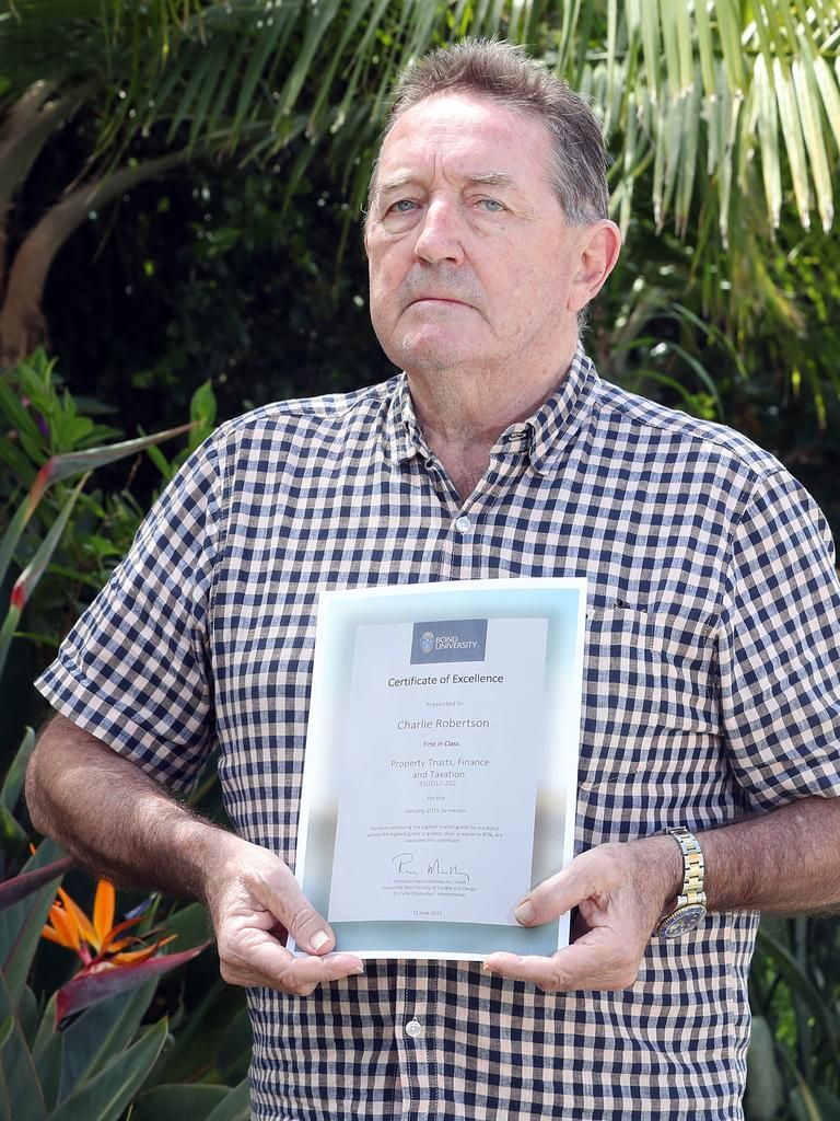 Graham Robertson, the grieving father of Charlie Roberston at his Southport home. Picture: Richard Gosling