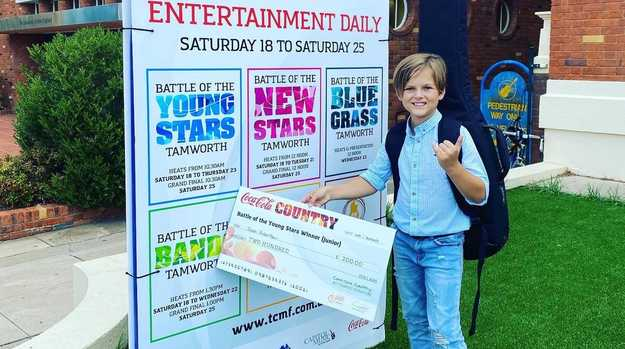 Noah Robertson won the Battle of the Young Stars competition at the Tamworth Country Music Festival.