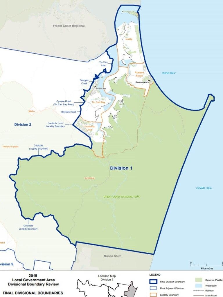 March 2020 Gympie council election Division 1