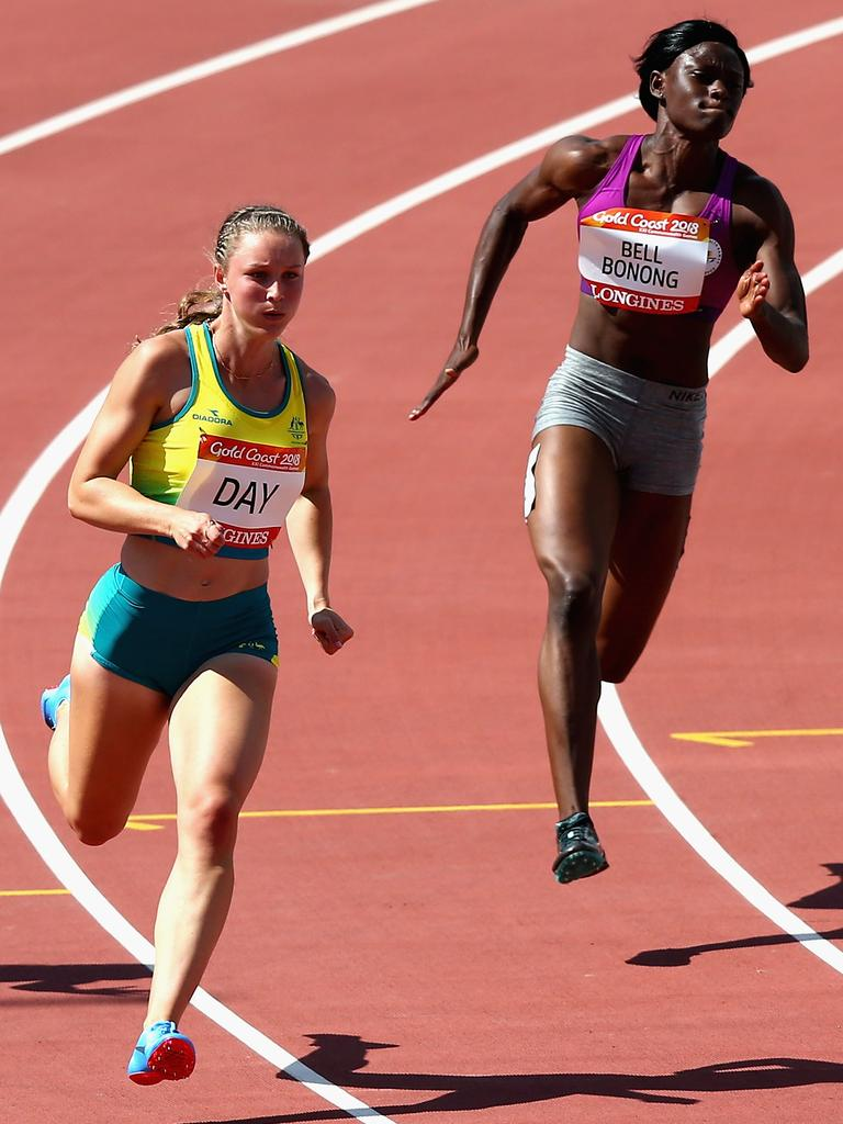 Riley Day in action at the Gold Coast Commonwealth Games