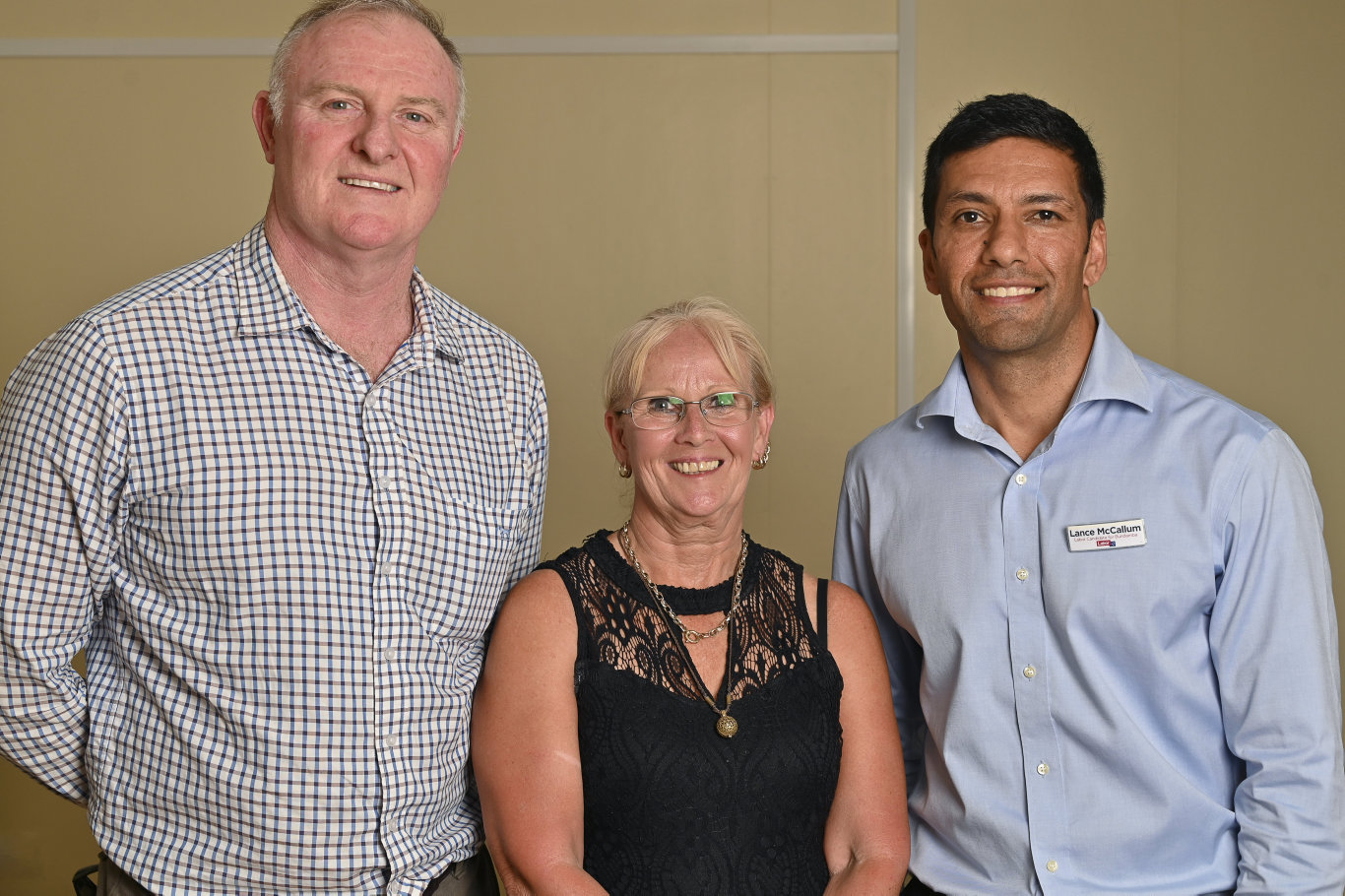 Bundamba ballot paper draw. Robert Shearman, Sharon Bell and Lance McCallum. Picture: Cordell Richardson