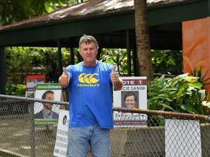 Polling at Woombye State School. Jorel Jamieson is