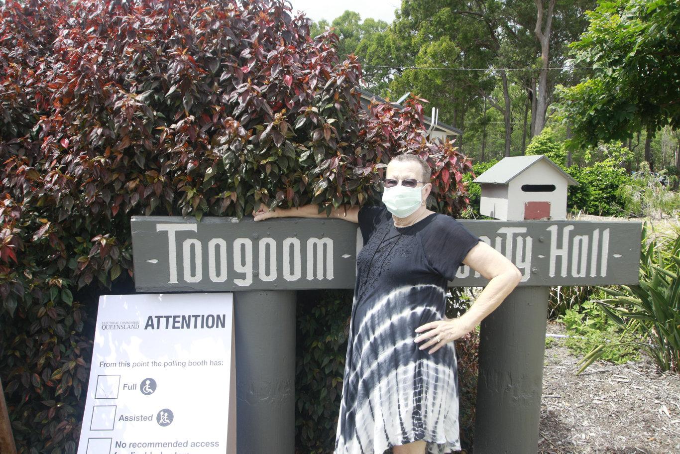 Celeste Giess at the Toogoom Community Hall