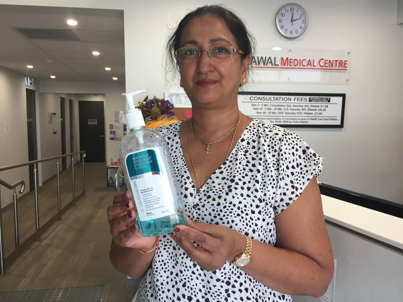 Sarina medical professional Yogita Awal said she was appalled after realising the town's polling station was not providing hand sanitiser to voters.