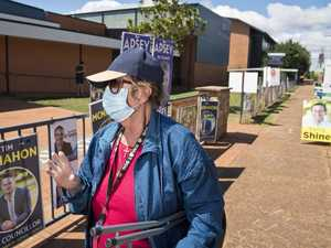 Lorraine Thomas after voting at Harristown State High