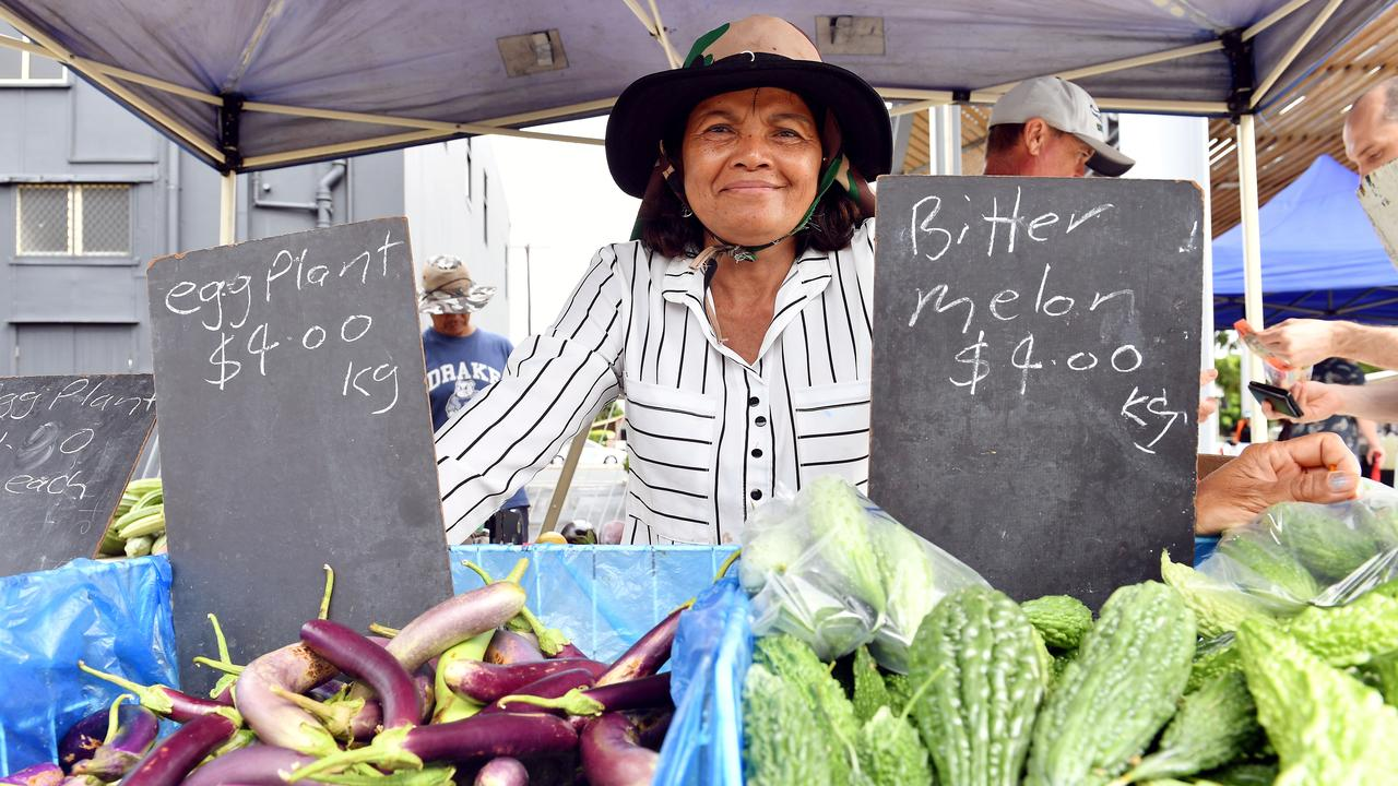 Prance Neil travelled from Bowen to sell produce at the Greater Whitsunday Farmers Market. Picture: Tony Martin