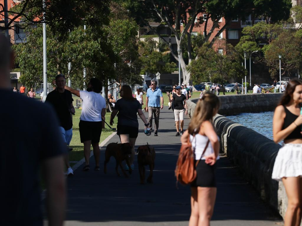 Sydney residents are pictured ignoring social distancing in Sydney exercising and taking selfies as COVID-19 slowly tightens its grip. Picture: Matrix