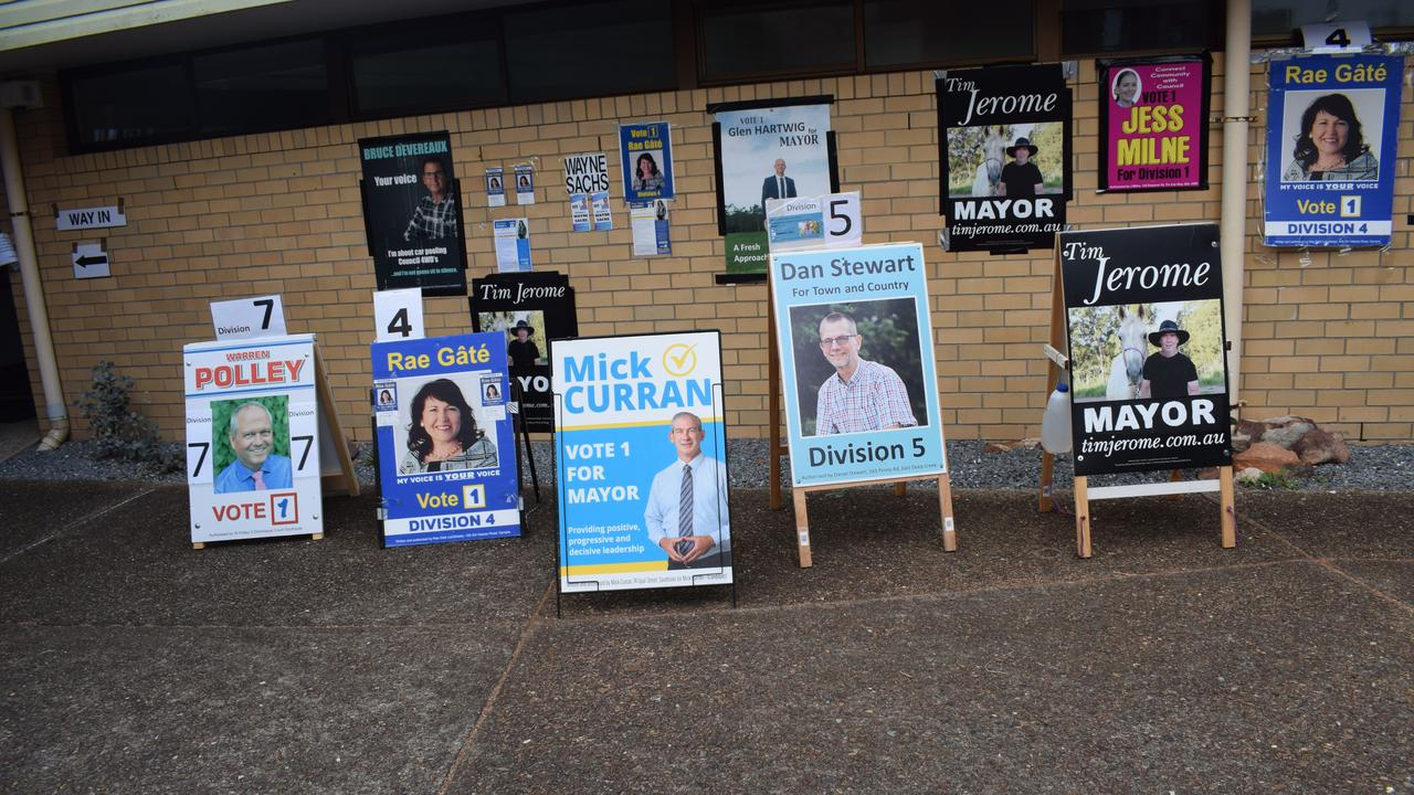 There was no volunteers in sight at the 2020 local council elections, just placards and billboards. Photo: Philippe Coquerand