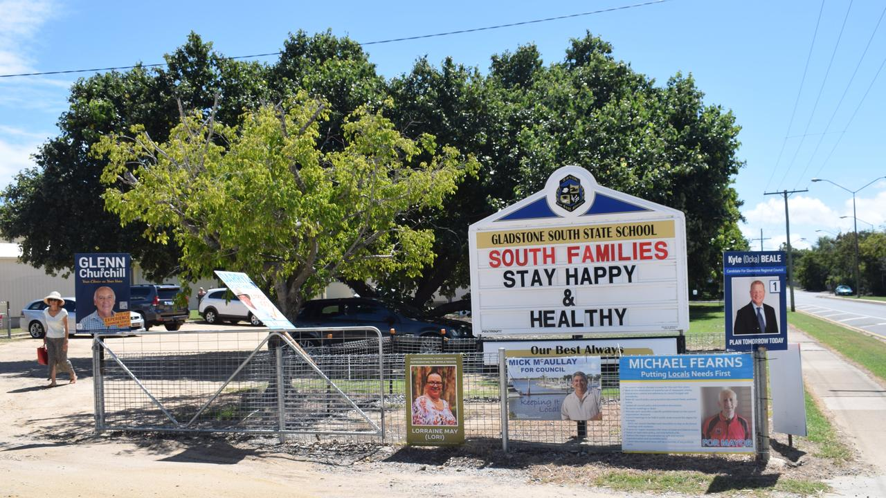 Gladstone South State School at Election Day 2020, March 28 2020