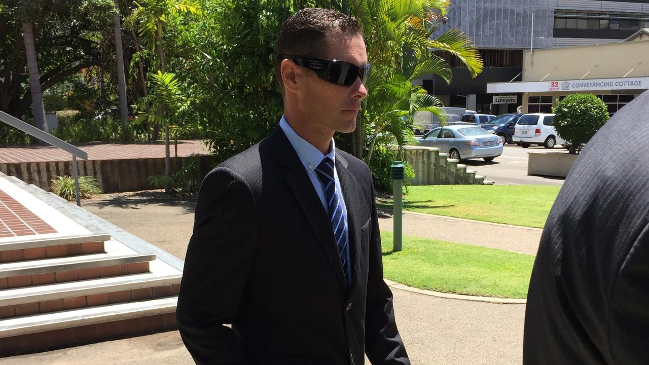 Nicholas Aaron Baxter leaves Townsville Magistrates Court. Photo: Emma Channon