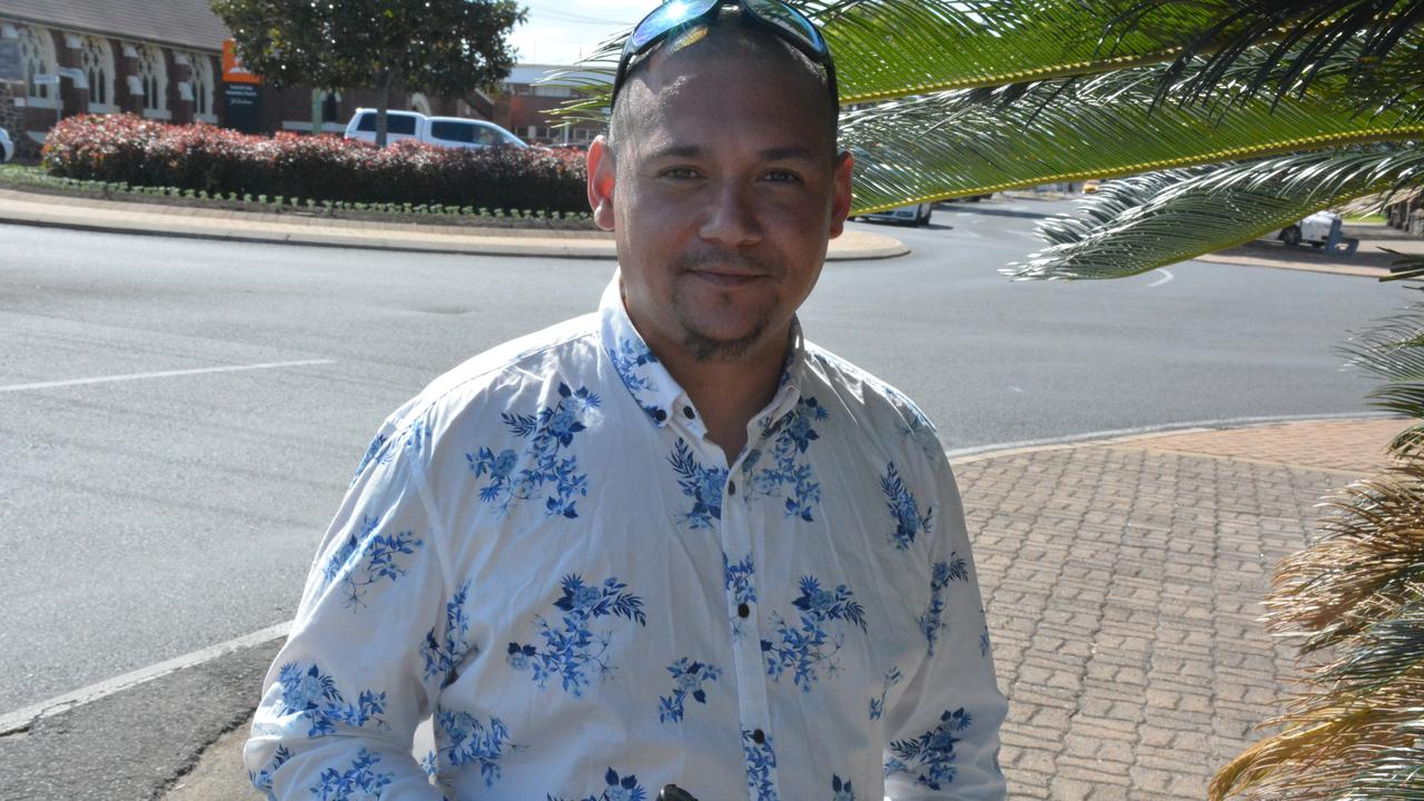 Bundaberg mayoral candidate Kirt Anthony said he had to keep people entertained so that they were interested in local politics. Picture: Chris Burns.