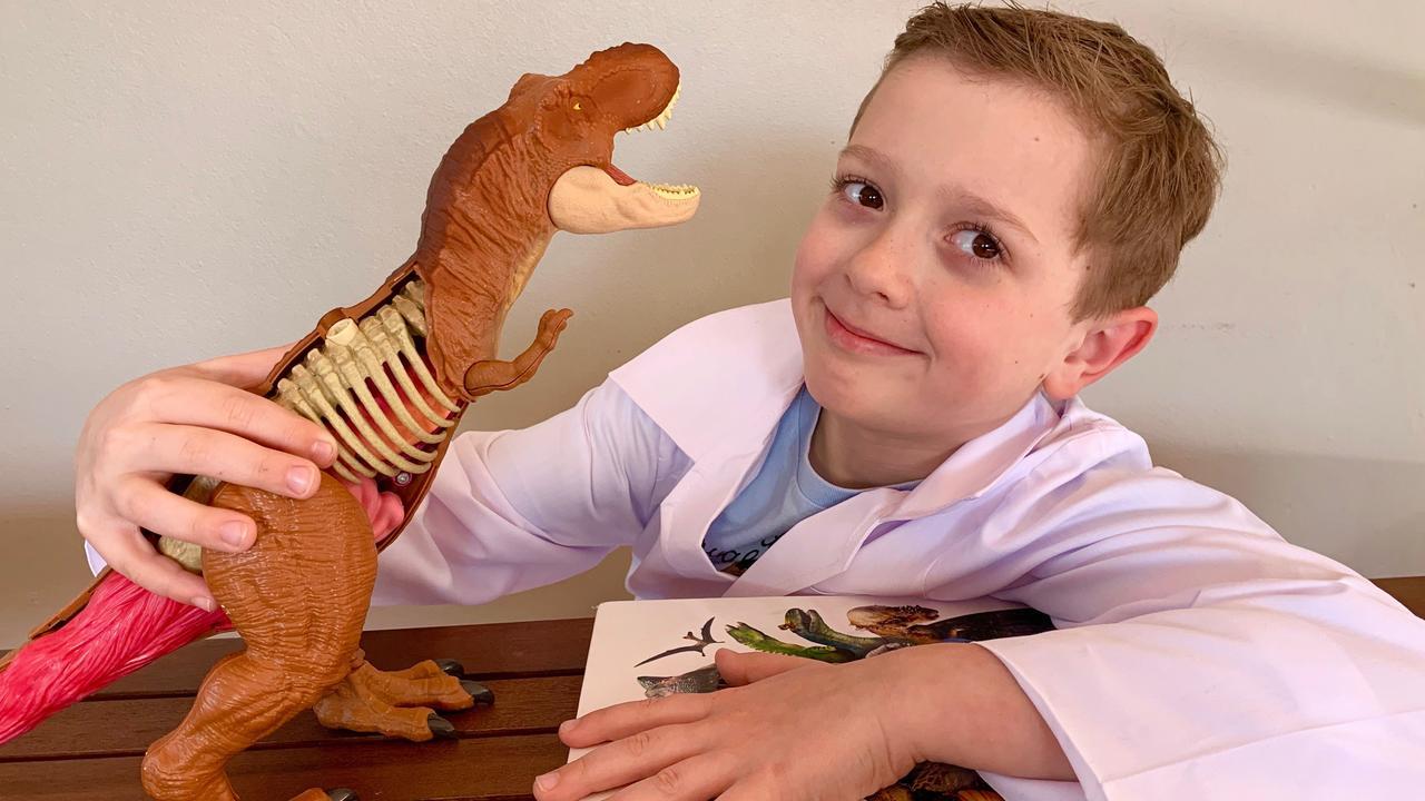 Sleek Geeks Science Eureka Prize 2019 primary school winner Thomas Finn. Picture: Contributed.